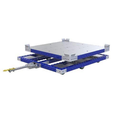 Rotating Pallet Tugger Cart - 1260 x 1260 mm