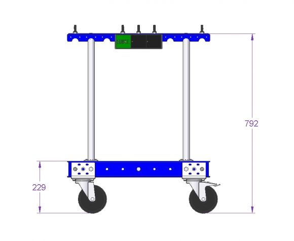 Cart for Trash - 630 x 630 mm
