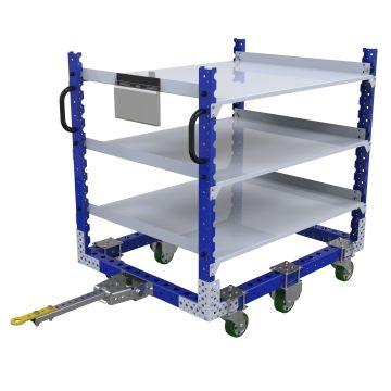 Carro remolcador de estante plano - 1260 x 980 mm