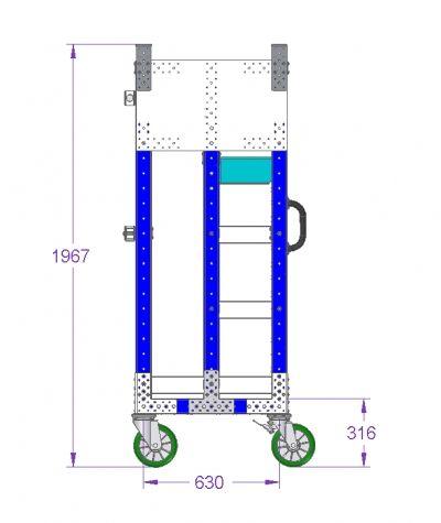 Kit cart - 1330 x 700 mm