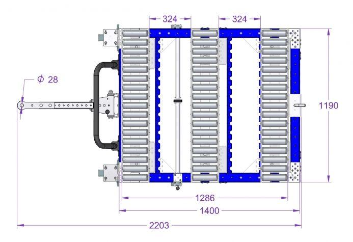 Roller Cart - 1400 x 1190 mm