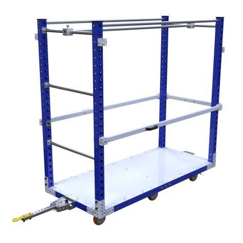 Flat Deck Tugger Cart - 2030 x 910 mm