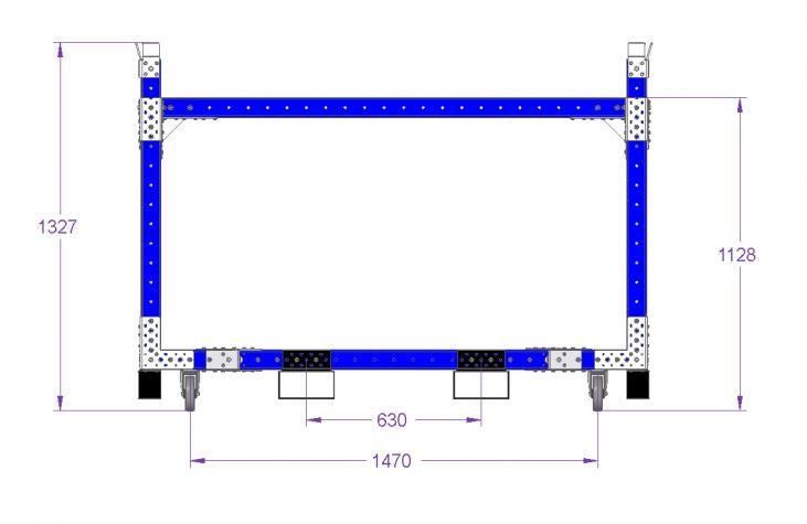 Stackable Rack Cart - 1820 x 1330 mm