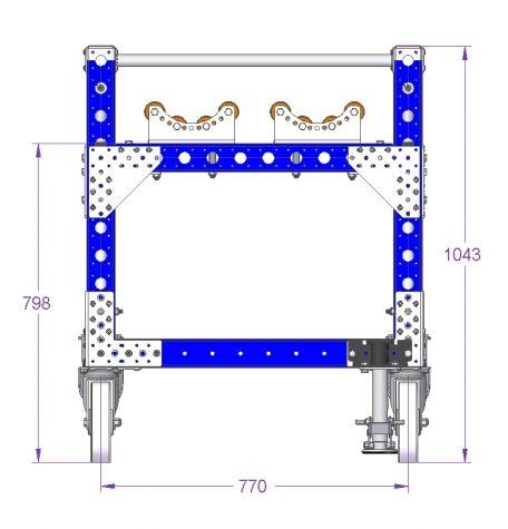 Cylinder Cart - 2800 x 840 mm