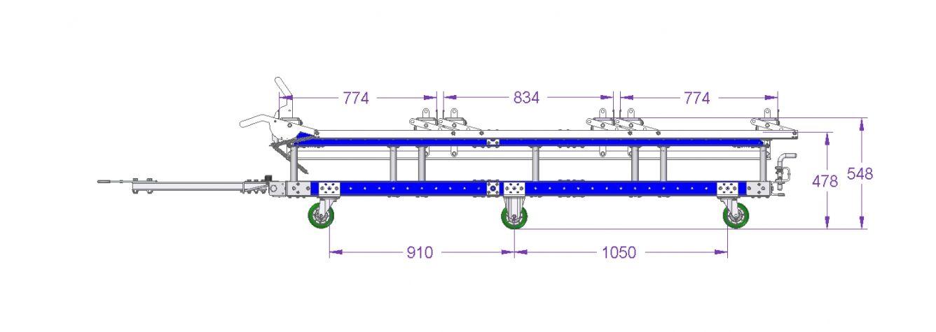 Roller Pallet Cart - 2380 x 2030 mm