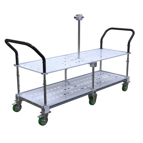 FlexTube shelf cart – 1820 x 630 mm