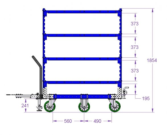 Shelf Cart - 1400 x 840 mm