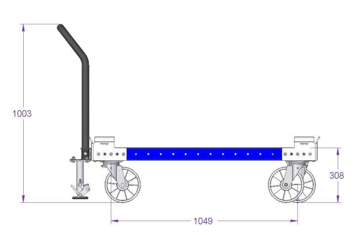 Container Trolley 48 x 40 inch