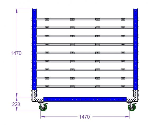 Cart for Wall Panel - 1750 x 1610 mm