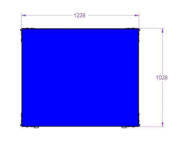 Still Shelf Cart 1220 x 1020 mm
