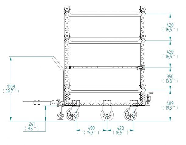 ESD Shelf Cart - 840 x 1260 mm