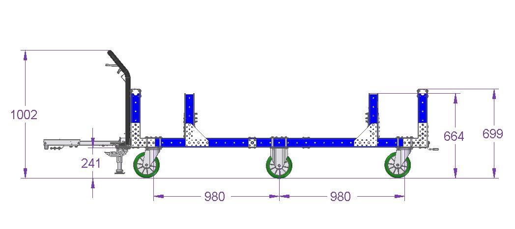 Crankshaft Cart - 2310 x 840 mm