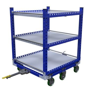 Flat Shelf Tugger Cart – 1400 x 1260 mm
