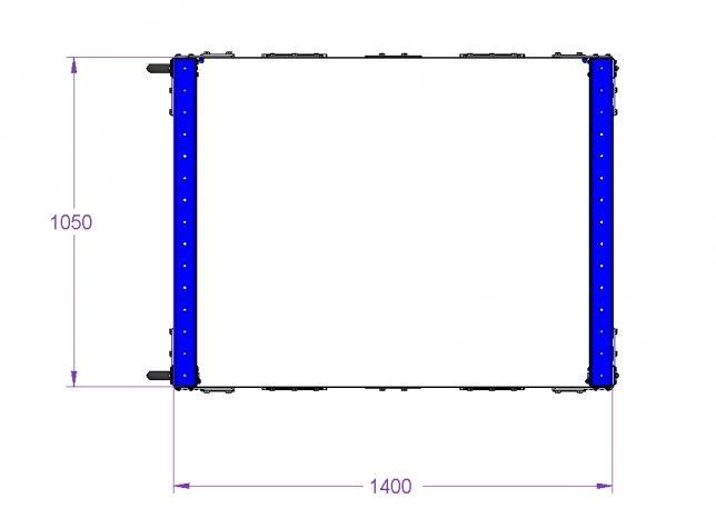 Flow Shelf Cart - 1050 x 1400 mm