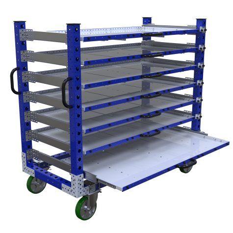 Extendable Shelf Cart - 1680 x 770 mm