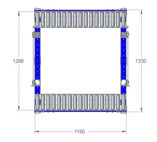 Roller Rack - 1330 x 1190 mm