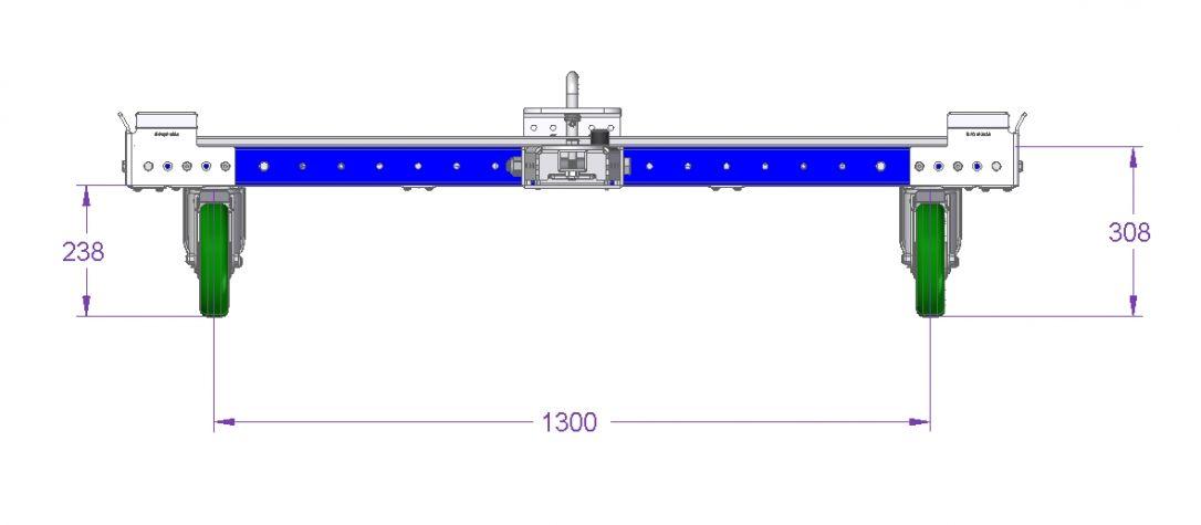 Tugger Cart -1610 x 3710 mm