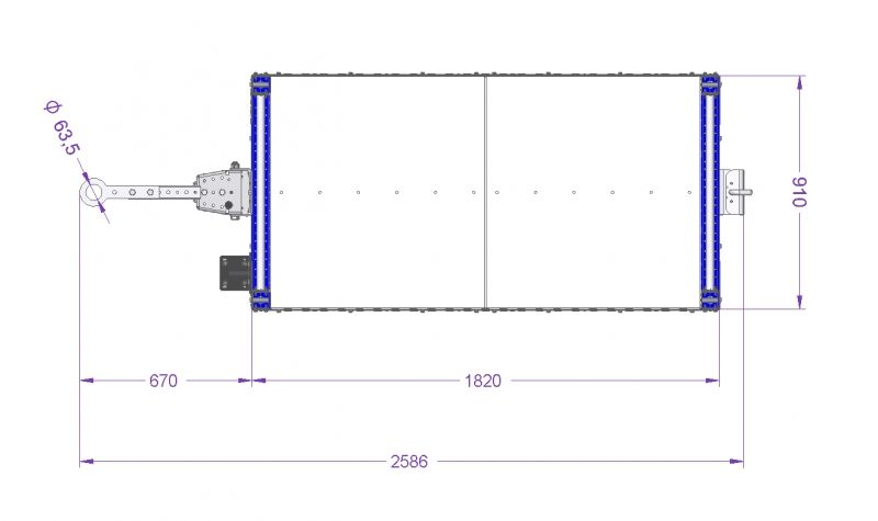 Flat Shelf Cart - 910 x 1820 mm