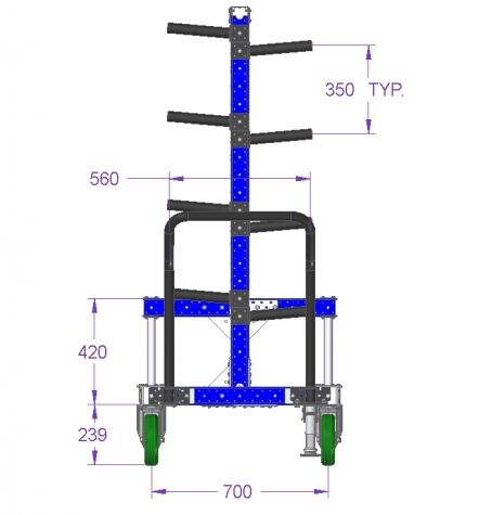 Cart For Hanging - 770 x 1050 mm