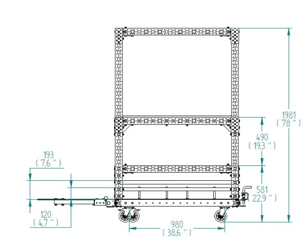 Transfer Cart - 1330 x 1260 mm