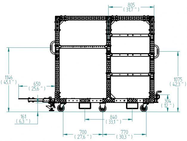 Kit Cart - 1050 x 1750 mm