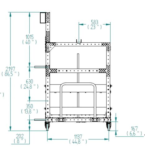Kit Cart - 1190 x 2520 mm