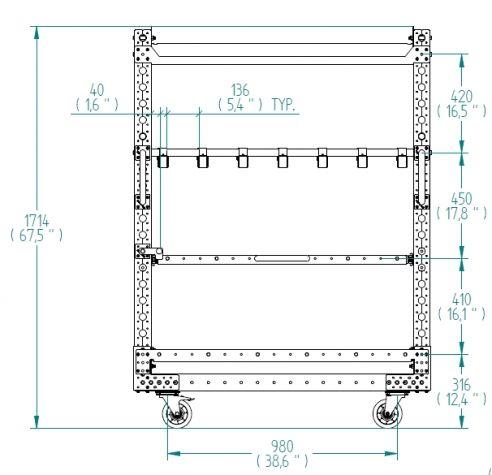 Shelf Cart - 1260 x 840 mm