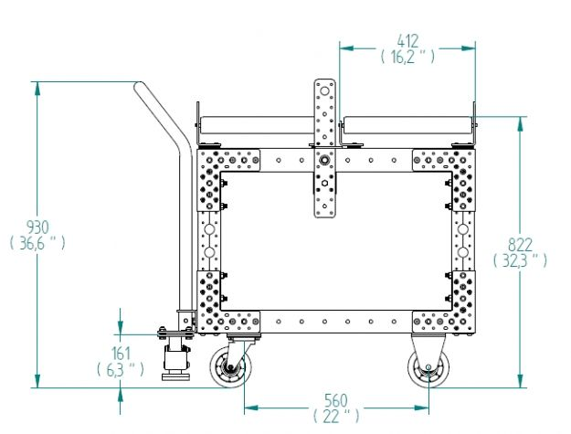 Transfer cart - 840 x 700 mm
