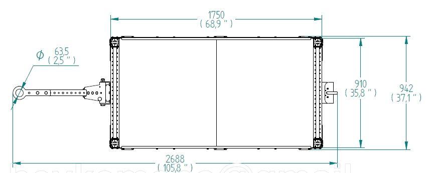 Flat Shelf Cart - 1750 x 910 mm