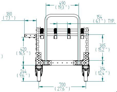 Flow Rack - 2520 x 770 mm