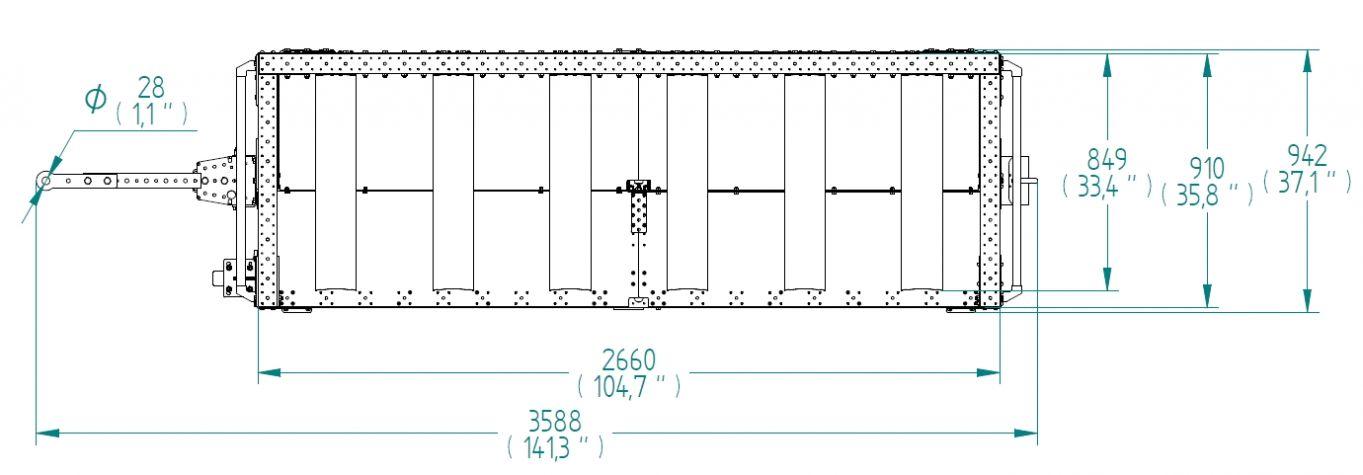 Shelf Kit Cart - 910 x 2660 mm