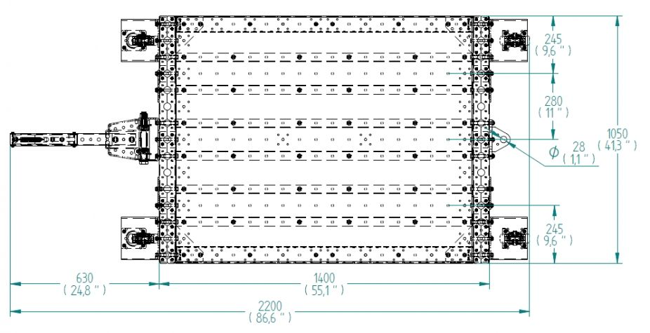 Low Tugger Cart - 1050 x 1400 mm