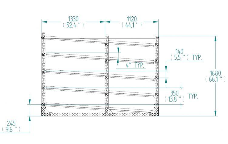 Flow Rack - 2450 x 3710 mm