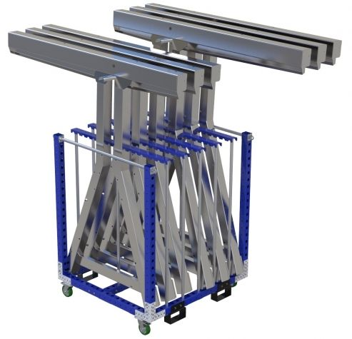 Modular & industrial material handling cart by FlexQube