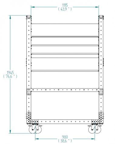 Flow Shelf Cart - 490 x 1260 mm