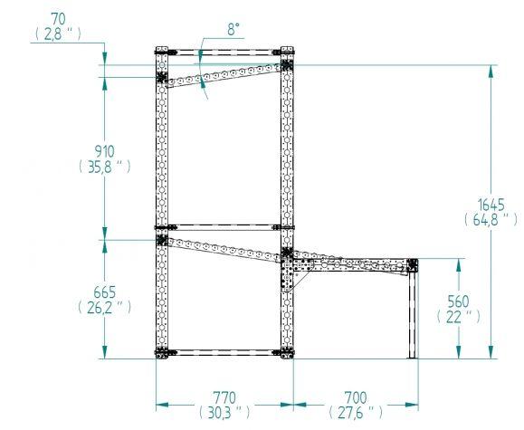 Flow Rack - 1400 x 1470 mm