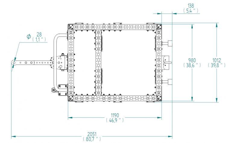 Base Frame - 980 x 1190 mm