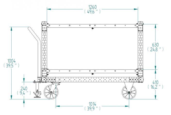 Flat Shelf Cart - 1260 x 1400 mm