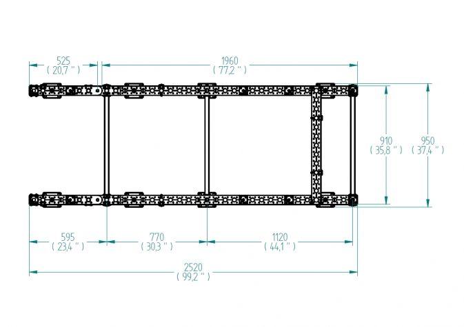 Tugger Fixture - 910 x 1960 mm