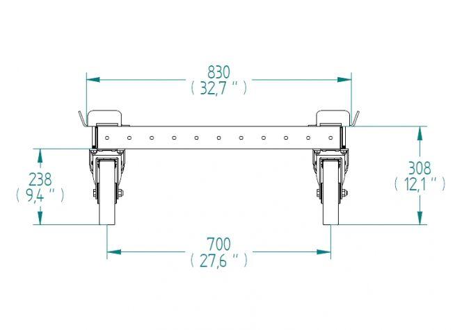 Pallet Trolley 2030 x 840 mm