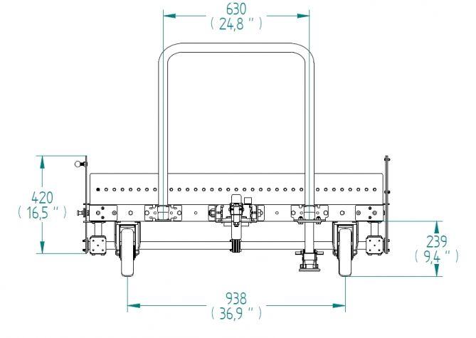 Roller Transfer Cart - 1260 x 1260 mm