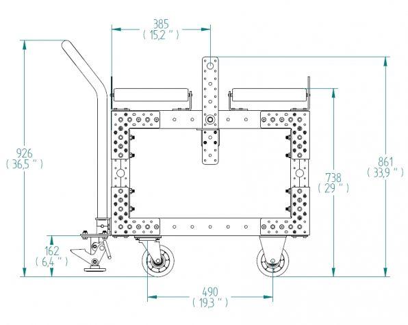 Roller Cart - 770 x 490 mm