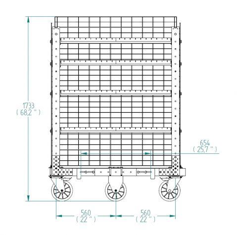 Flex Shelf Cart -1190 x 700 mm