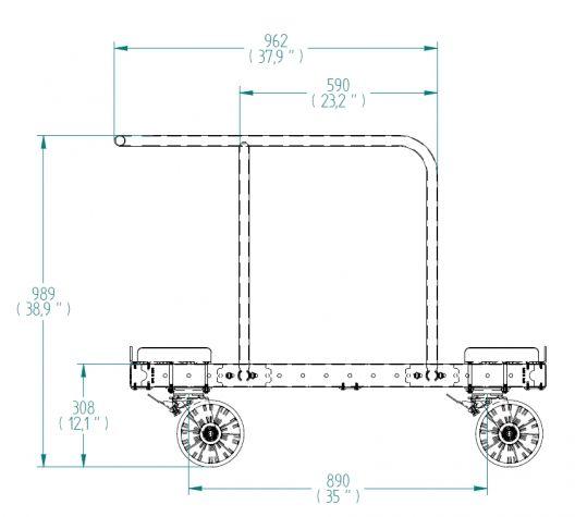 EUR Pallet Cart 1240 x 820 mm