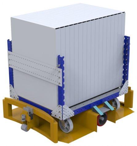 Metal frame cart - 980 x 1190 mm