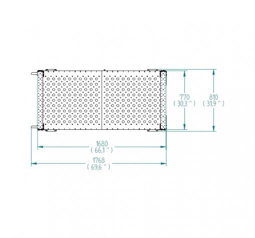 Flat Shelf Cart - 770 x 1680 mm