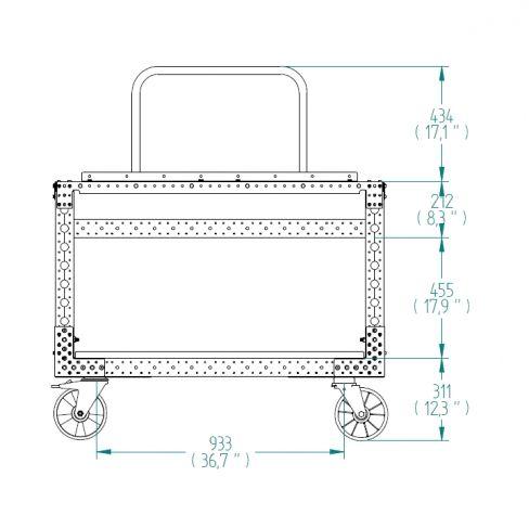 Mobile Workstation Cart- 820 x 1240 mm