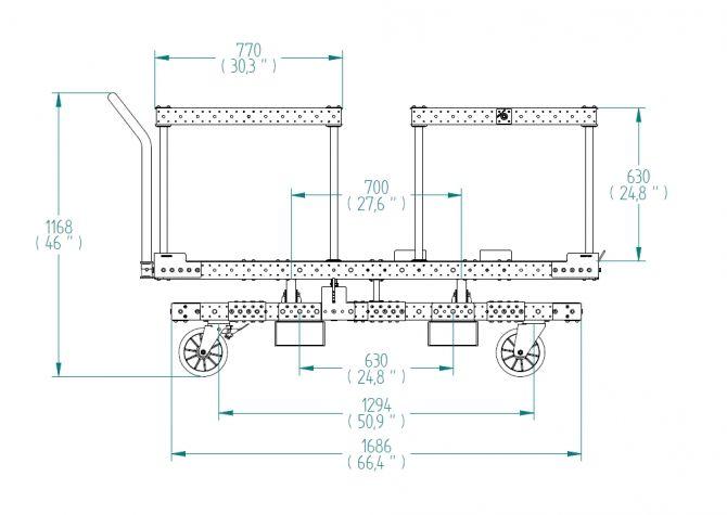 Rotating Platform Cart - 1260 x 1820 mm
