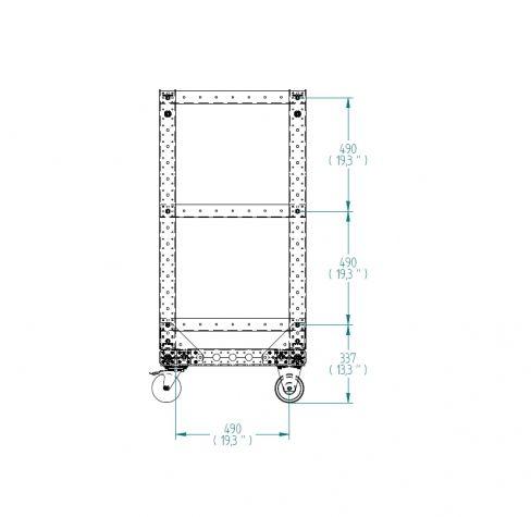 Flat Shelf Cart - 560 x 630 mm