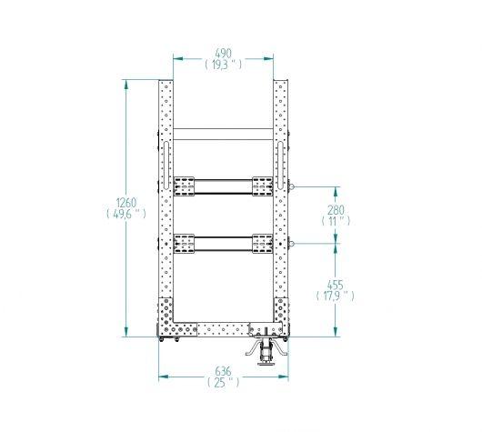 Shelf Cart - 630 x 1330 mm